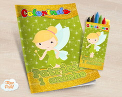 Kit colorir com giz de cera Tinkerbell cute