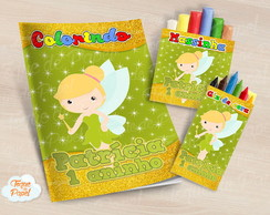 Kit colorir giz massinha Tinkerbell cute