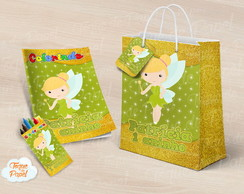 Kit colorir giz sacola Tinkerbell cute