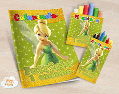 Kit colorir giz massinha Tinkerbell