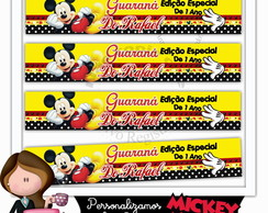 Rótulo para mini guaraná mickey