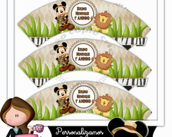 Wrappers para cupcake mickey safari