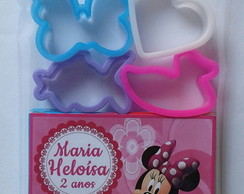 Kit Massinha de Modelar + 4 Moldes Minnie Rosa