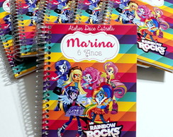 Mini Caderno My Little Pony - Rainbow Rocks