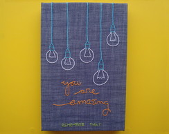 "Painel Bordado ""You are amazing"" (20x30cm)"