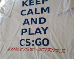 camisa keep calm and play CS:GO