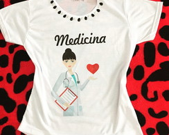 Baby Look Customizada - Medicina