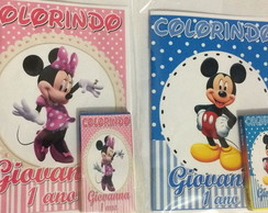 Kit revista personalizado Mickey e Minnie