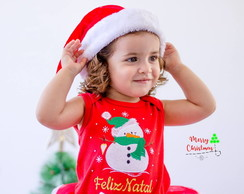 Body Bordado Feliz Natal