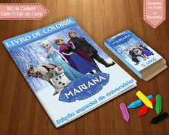 Kit de Colorir - Frozen