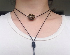 Colar choker - Golden Rose & Money