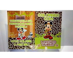 Revistinha de colorir mickey safari