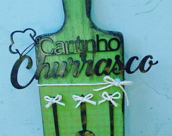 PLACA CANTINHO DO CHURRASO