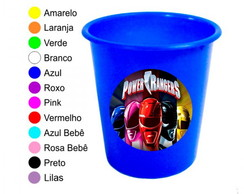 Kit 30 Baldes de Pipoca Power Rangers