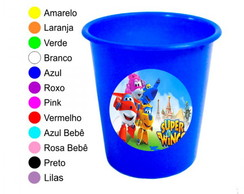 Kit 30 Baldes de Pipoca Super Wings