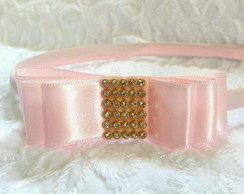 Tiara Channel com Strass