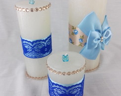 Trio de Velas Decoradas