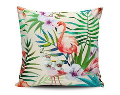 Almofada Flamingo Tropical 40x40cm