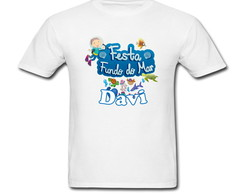 Camiseta Infantil com Nome Fundo do Mar