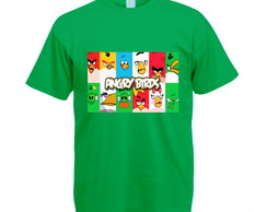 Camiseta Colorida Verde Angry Birds