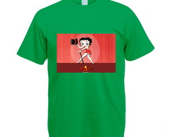 Camiseta Colorida Verde Betty Boop