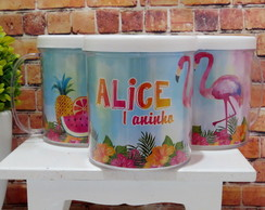Caneca Flamingo Tropical personalizada