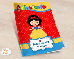 Revista colorir Branca de Neve cute