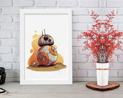 Quadro com Moldura BB9 Star Wars