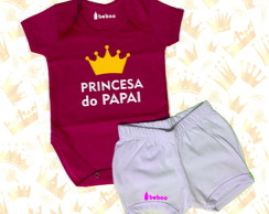Conjunto - Princesa do Papai