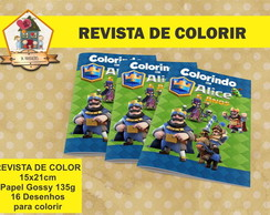 REVISTA DE COLORIR CLASH ROYALE