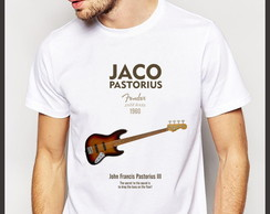 Camiseta Jazz Jaco Pastorius Fender Jazz Bass