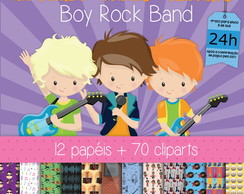 Kit Digital Completo BOY ROCK BAND