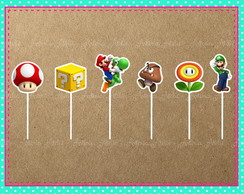 Topper Doces Super Mario