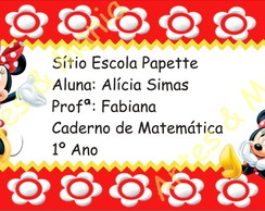 Arte Digital Etiqueta Escolar - Minnie