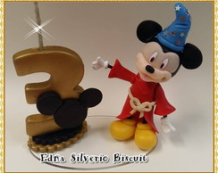 Mini Topo de bolo Mickey e Minnie