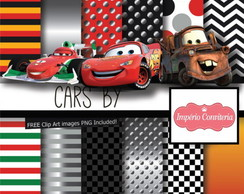 Kit Digital Scrapbook Carros Disney Cars 1