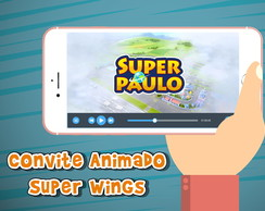 Convite animado Super Wings