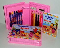 Mini Estojo de Pintura Backyardigans