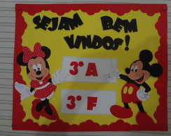 Kit decorando a sala de aula Minnie e Mickey