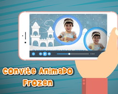 Convite animado virtual Frozen