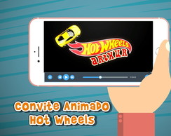 Convite Animado Hot Wheels