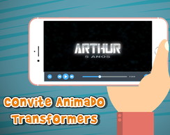 Convite animado virtual Transformers