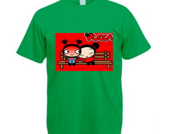 Camiseta Colorida Verde Pucca
