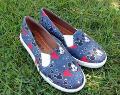SLIP ON MICKEY JEANS