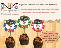 Toppers Cassino - para Doces, Cupcakes etc...