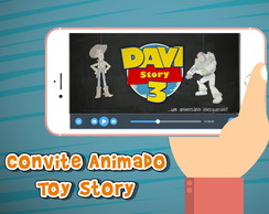 Convite animado virtual Toy Story