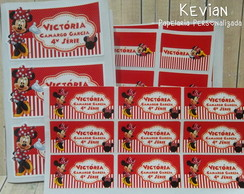 Etiqueta Escolar Minnie - Kit 3