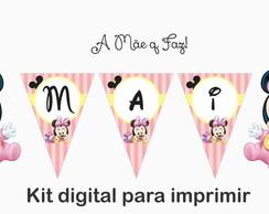 Bandeirolas Baby Disney Minnie 01 Arte Para Imprimir No Elo7 A