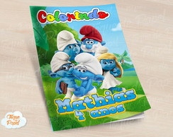 Revista colorir Smurfs