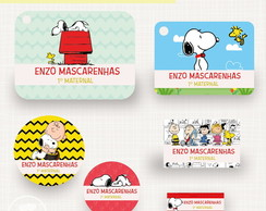 Kit Etiqueta Escolar - Snoopy
